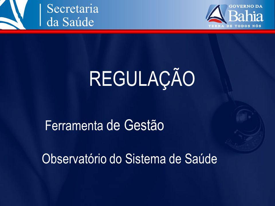 REGULAÇÃO Ferramenta de Gestão Observatório do Sistema de Saúde
