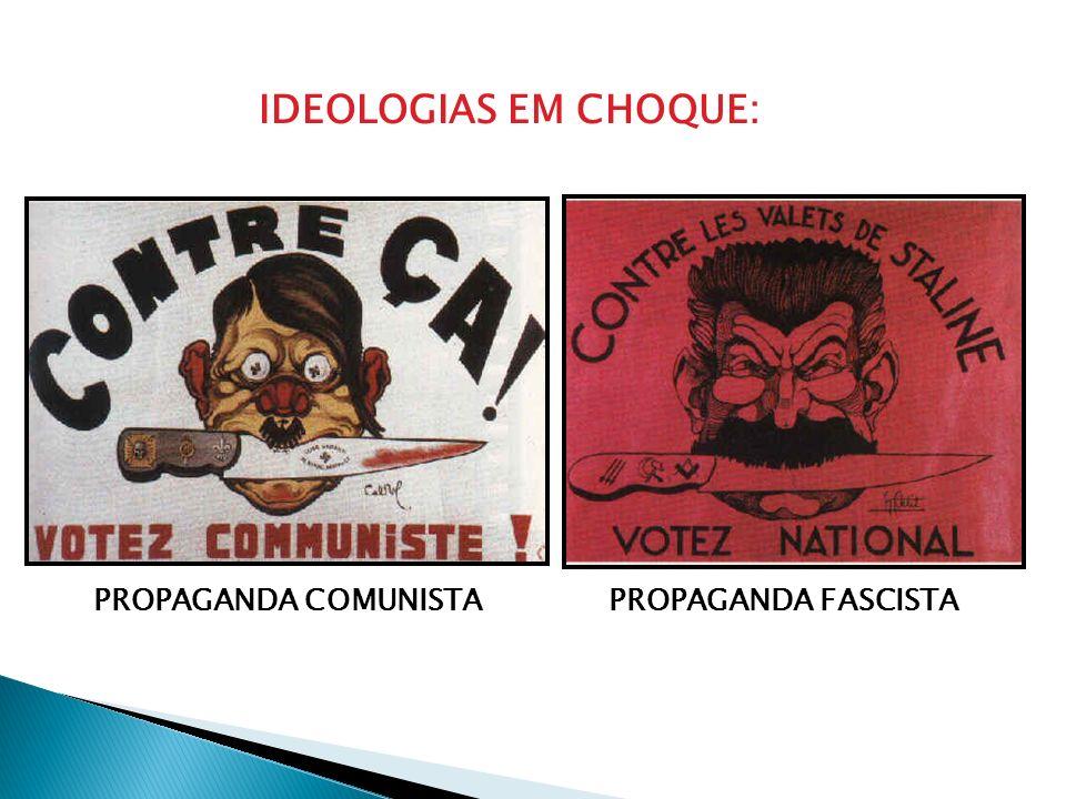 IDEOLOGIAS EM CHOQUE: PROPAGANDA COMUNISTAPROPAGANDA FASCISTA