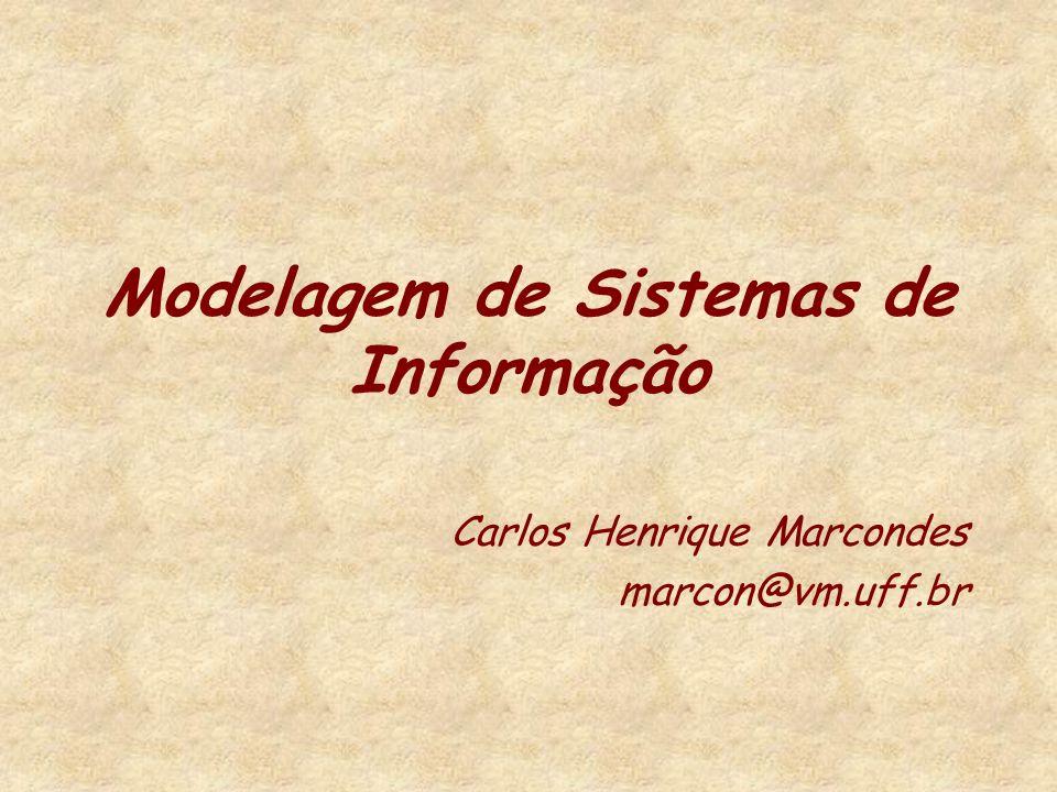 Modelagem de Sistemas de Informação Carlos Henrique Marcondes marcon@vm.uff.br