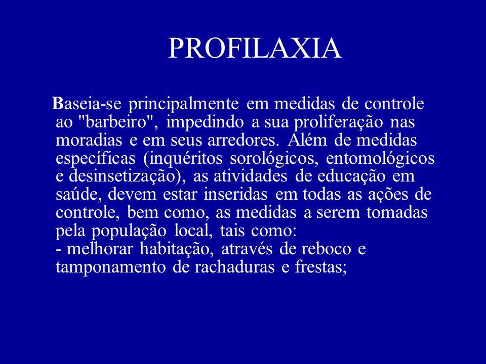 PROFILAXIA Baseia-se principalmente em medidas de controle ao