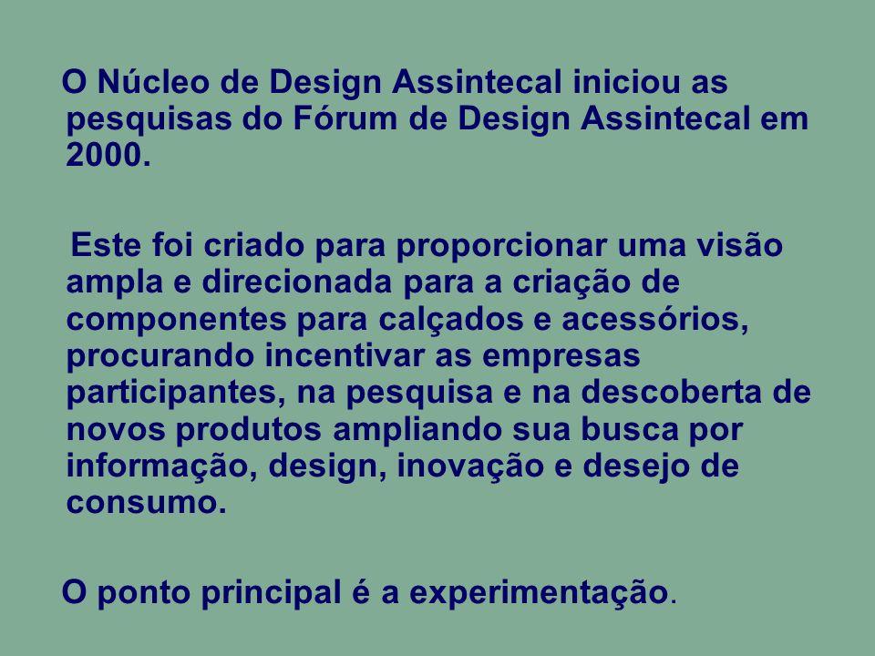 ATIVIDADES O Fórum de Design Assintecal é uma plataforma para os lançamentos de novos produtos e de pesquisa para novas tecnologias e materiais.