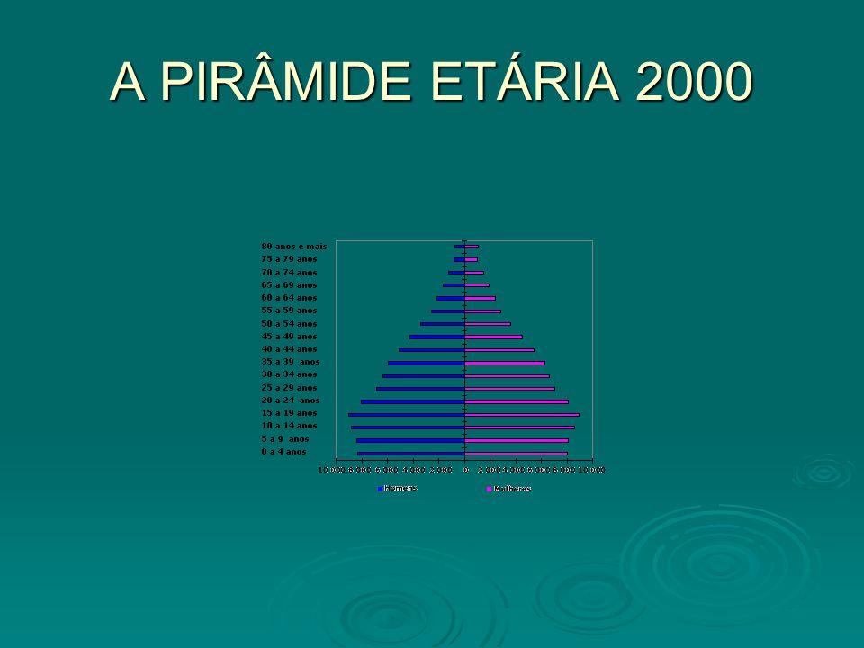 EVOLUÇÃO DEMOGRÁFICA A população brasileira vem envelhecendo desde a década de 70 quando se reduz bruscamente a taxa de crescimento da população que era na década de 60 de 2,89% ano para 1,93% a.a.