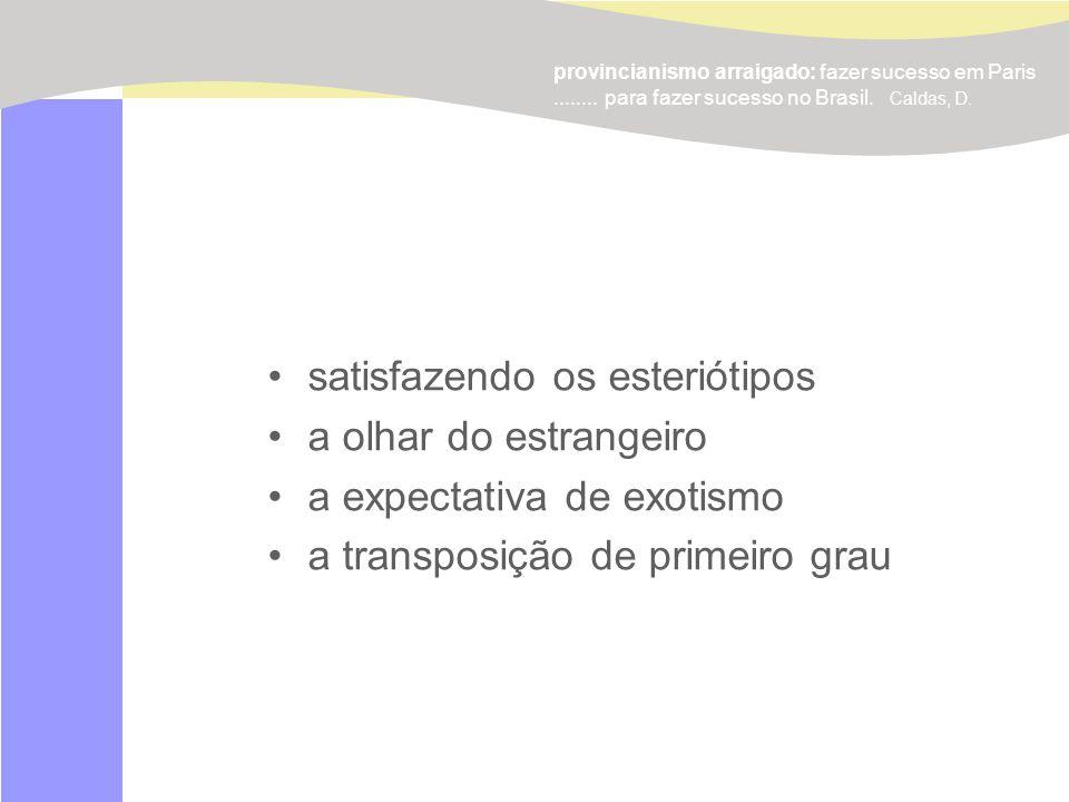 Universidade Estadual de Londrina. www.projetomilano.pro.br doroteia@sercomtel.com.br provincianismo arraigado: fazer sucesso em Paris........ para fa