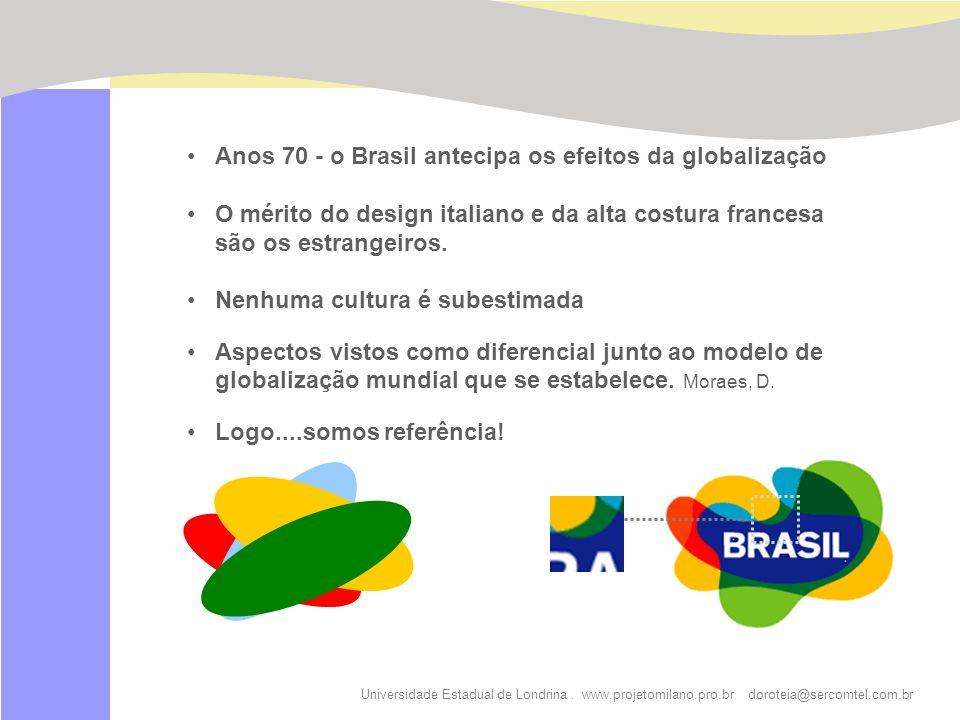 Universidade Estadual de Londrina. www.projetomilano.pro.br doroteia@sercomtel.com.br Anos 70 - o Brasil antecipa os efeitos da globalização O mérito