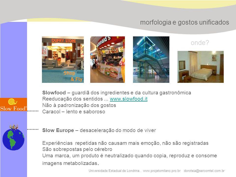 Universidade Estadual de Londrina. www.projetomilano.pro.br doroteia@sercomtel.com.br Slowfood – guardiã dos ingredientes e da cultura gastronômica Re