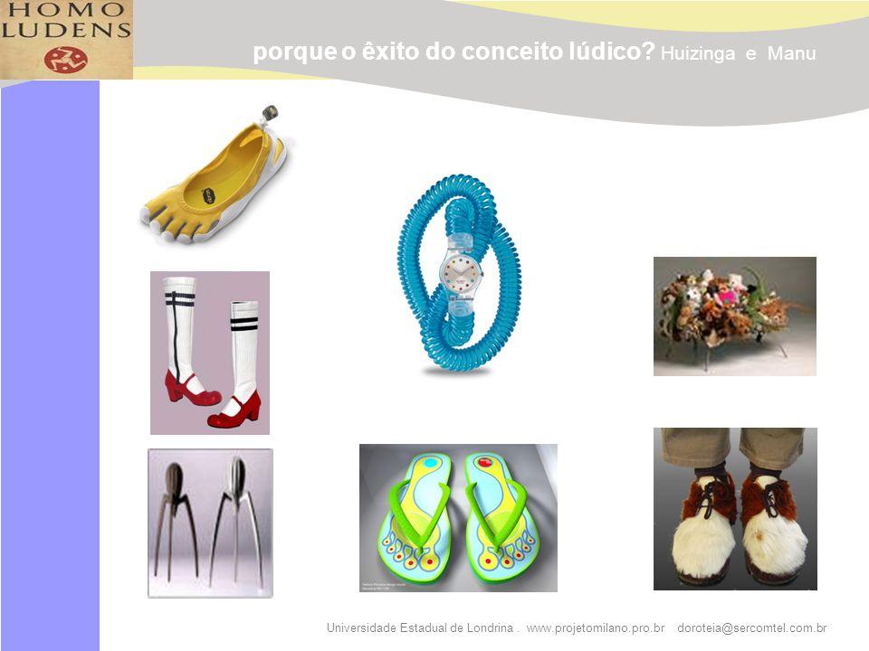 Universidade Estadual de Londrina. www.projetomilano.pro.br doroteia@sercomtel.com.br porque o êxito do conceito lúdico? Huizinga e Manu
