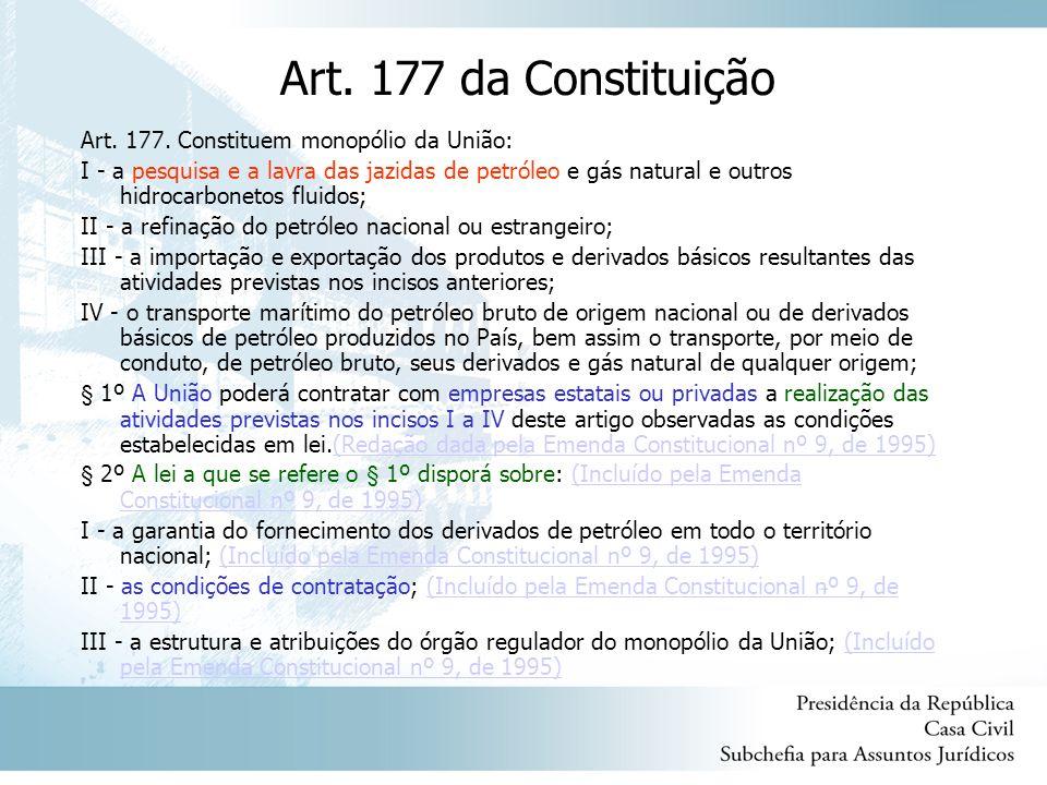 Art.177 da Constituição Art. 177.