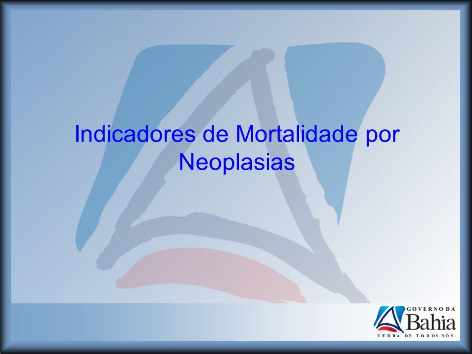 Indicadores de Mortalidade por Neoplasias
