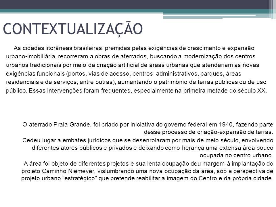 CONTEXTUALIZAÇÃO As cidades litorâneas brasileiras, premidas pelas exigências de crescimento e expansão urbano-imobiliária, recorreram a obras de ater