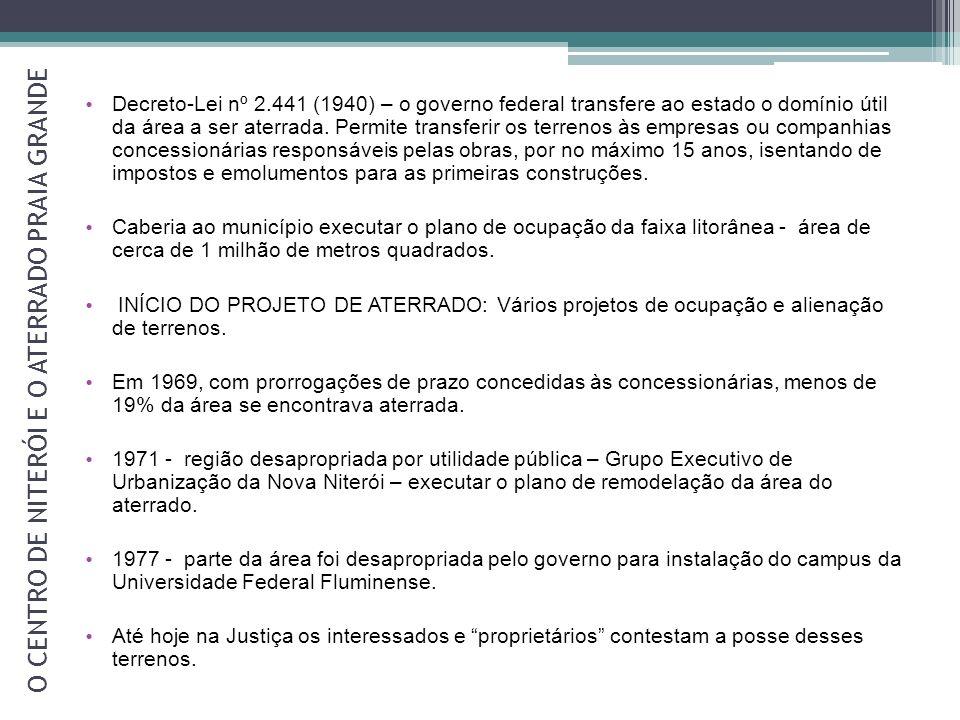 O CENTRO DE NITERÓI E O ATERRADO PRAIA GRANDE Aterrado - 1940