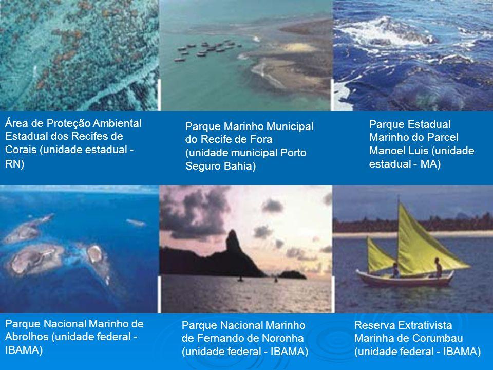 Área de Proteção Ambiental Estadual dos Recifes de Corais (unidade estadual - RN) Parque Marinho Municipal do Recife de Fora (unidade municipal Porto