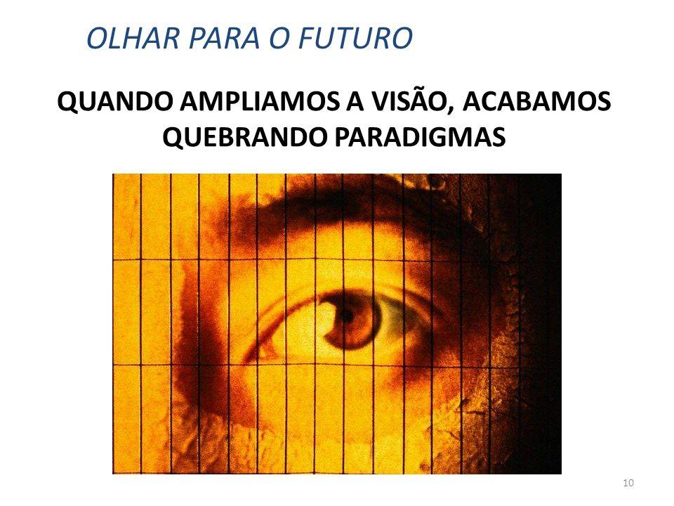 10 QUANDO AMPLIAMOS A VISÃO, ACABAMOS QUEBRANDO PARADIGMAS OLHAR PARA O FUTURO
