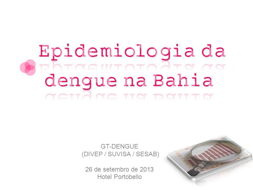 Fonte: Boletim Dinâmico/SINAN - GT-Dengue/ Divep / Suvisa / Sesab – até 20 de agosto de 2013 Dados sujeitos a alterações.