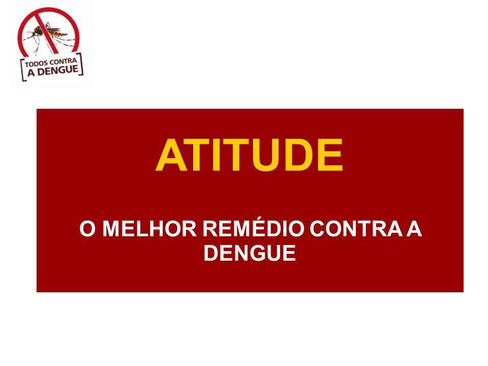 ATITUDE O MELHOR REMÉDIO CONTRA A DENGUE
