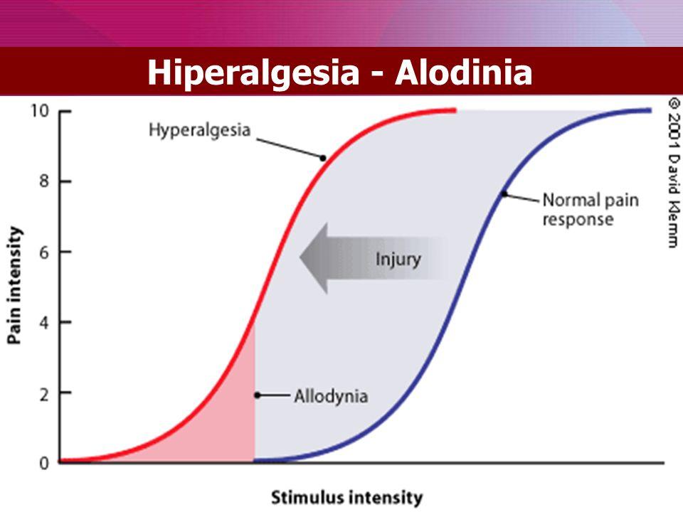Hiperalgesia - Alodinia
