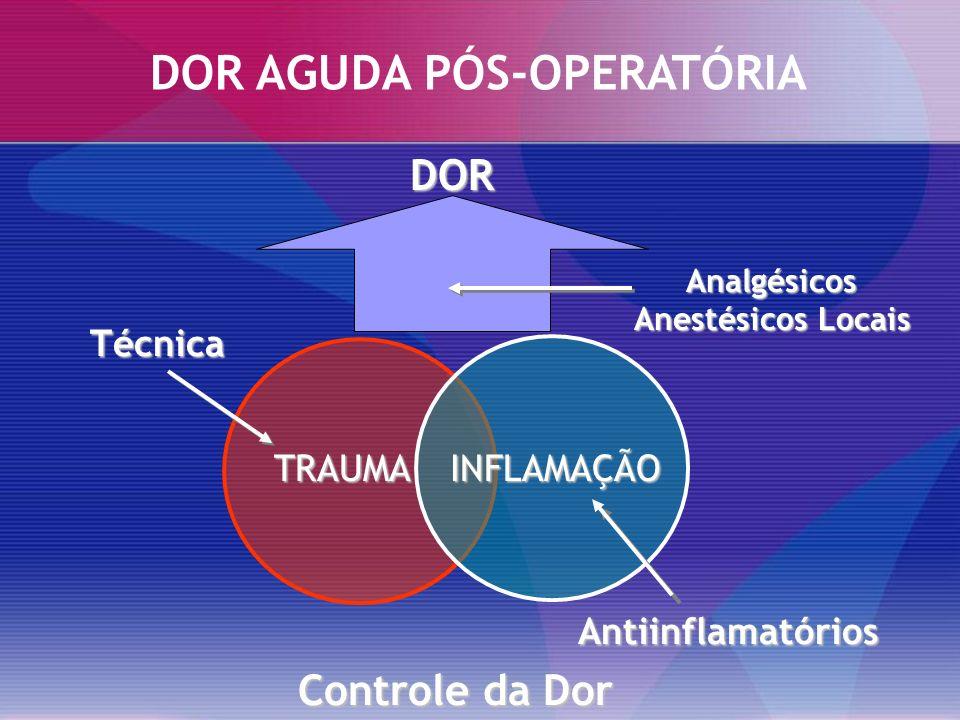 Dor Mecanismos Periféricos SENSIBILIZAÇÃO Hiperalgesia Primária PGE PGI Macrófago Estímulo Lesivo Citocinas IL-1 TNF Reação Inflamatória Vasodilatação Transudação Edema DOR Endotélio