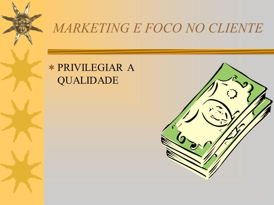 MARKETING E FOCO NO CLIENTE PRIVILEGIAR A QUALIDADE