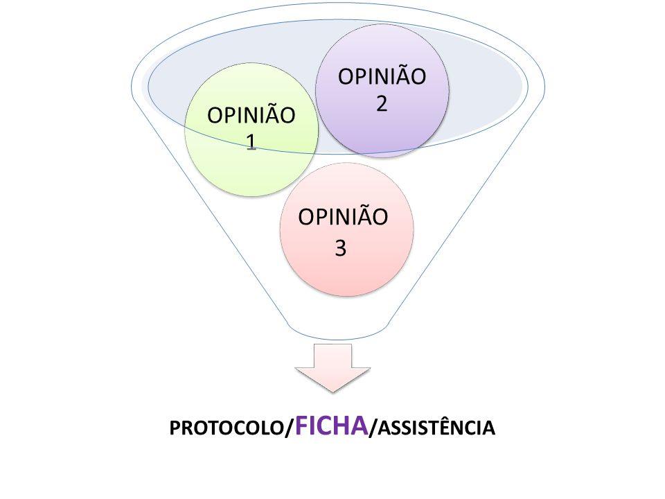 PROTOCOLO/ FICHA /ASSISTÊNCIA OPINIÃO 1 OPINIÃO 2 OPINIÃO 3