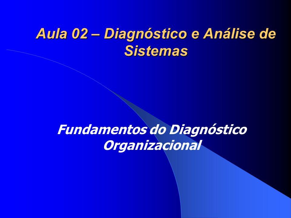 Aula 02 – Diagnóstico e Análise de Sistemas Fundamentos do Diagnóstico Organizacional