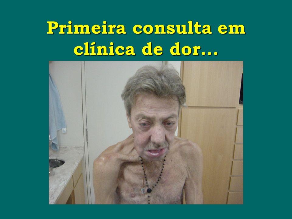 Primeira consulta em clínica de dor...