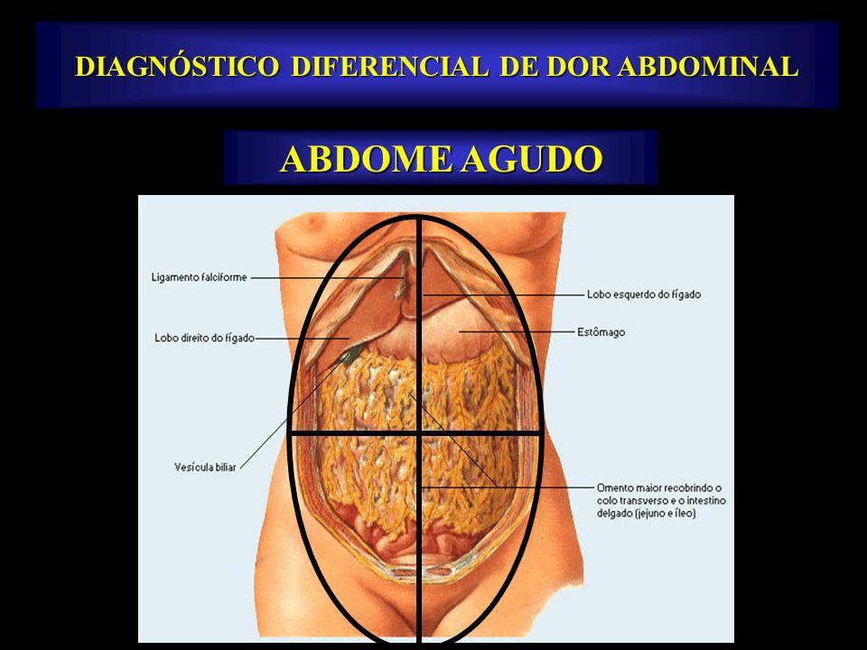 Fonte: NETTER, Frank H.. Atlas de Anatomia Humana. 2ed. Porto Alegre: Artmed, 2000. DIAGNÓSTICO DIFERENCIAL DE DOR ABDOMINAL ABDOME AGUDO