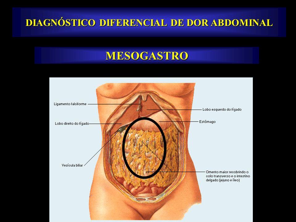 MESOGASTRO DIAGNÓSTICO DIFERENCIAL DE DOR ABDOMINAL