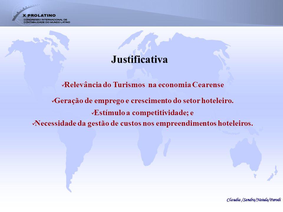 Relevância do Turismos na economia Cearense Geração de emprego e crescimento do setor hoteleiro. Estímulo a competitividade; e Necessidade da gestão d