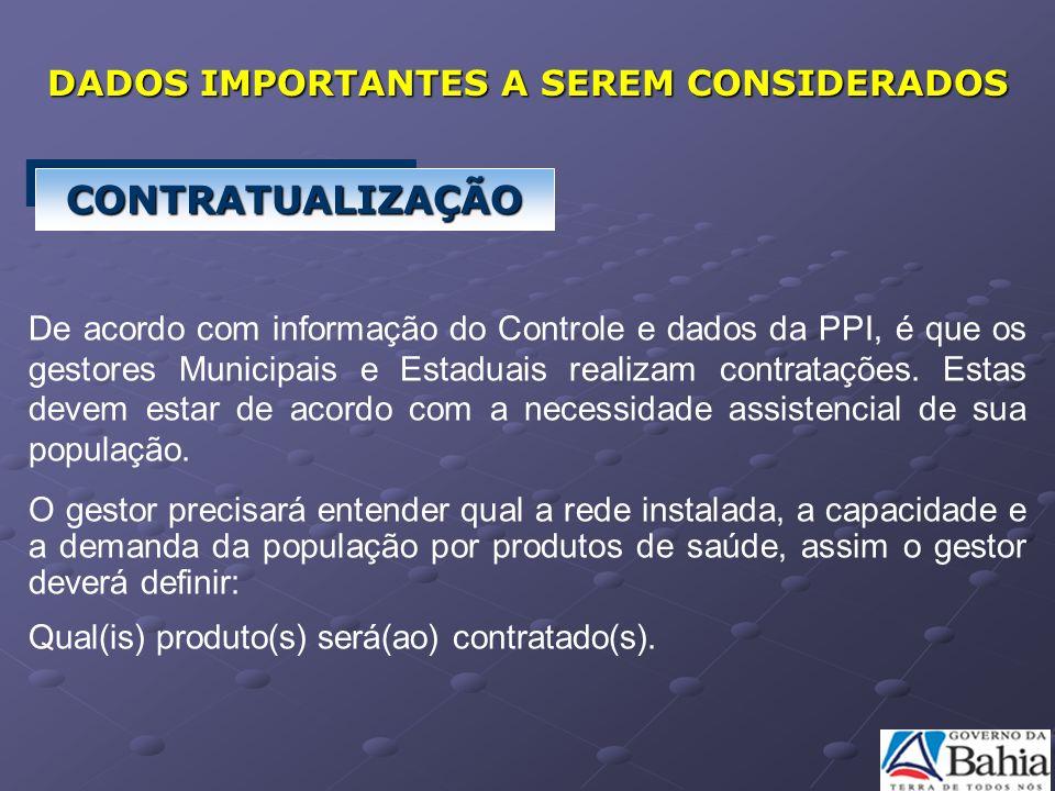 De acordo com informação do Controle e dados da PPI, é que os gestores Municipais e Estaduais realizam contratações. Estas devem estar de acordo com a