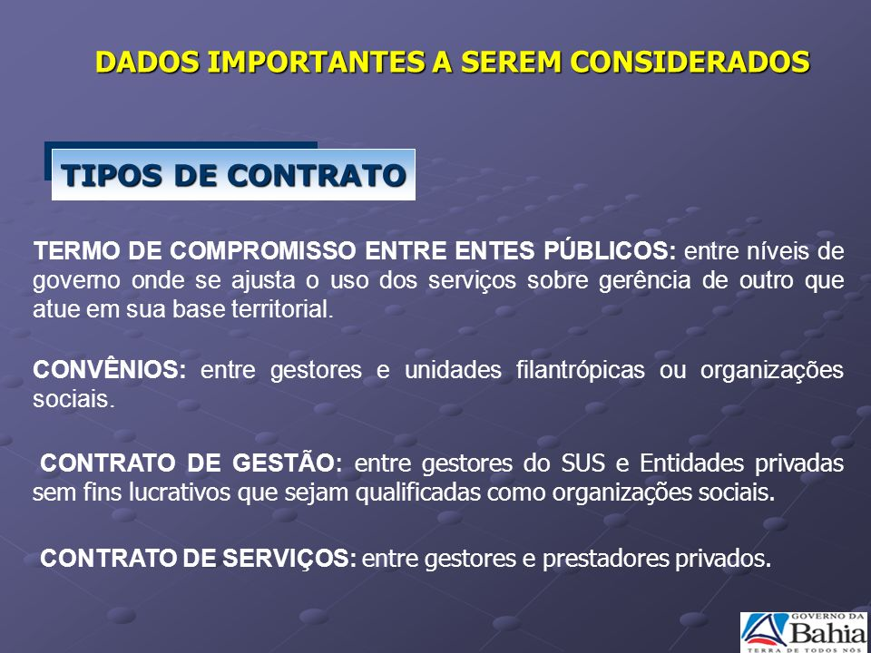 TERMO DE COMPROMISSO ENTRE ENTES PÚBLICOS: entre níveis de governo onde se ajusta o uso dos serviços sobre gerência de outro que atue em sua base terr