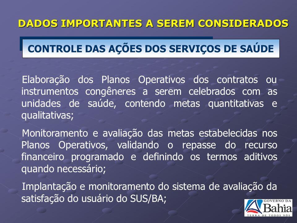 Elaboração dos Planos Operativos dos contratos ou instrumentos congêneres a serem celebrados com as unidades de saúde, contendo metas quantitativas e