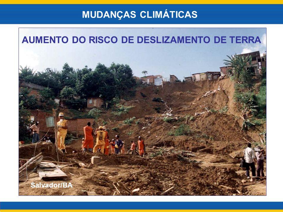 AUMENTO DO RISCO DE DESLIZAMENTO DE TERRA MUDANÇAS CLIMÁTICAS Salvador/BA
