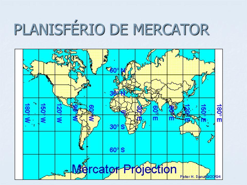 PLANISFÉRIO DE MERCATOR