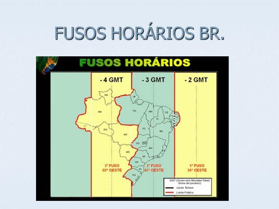 FUSOS HORÁRIOS BR.