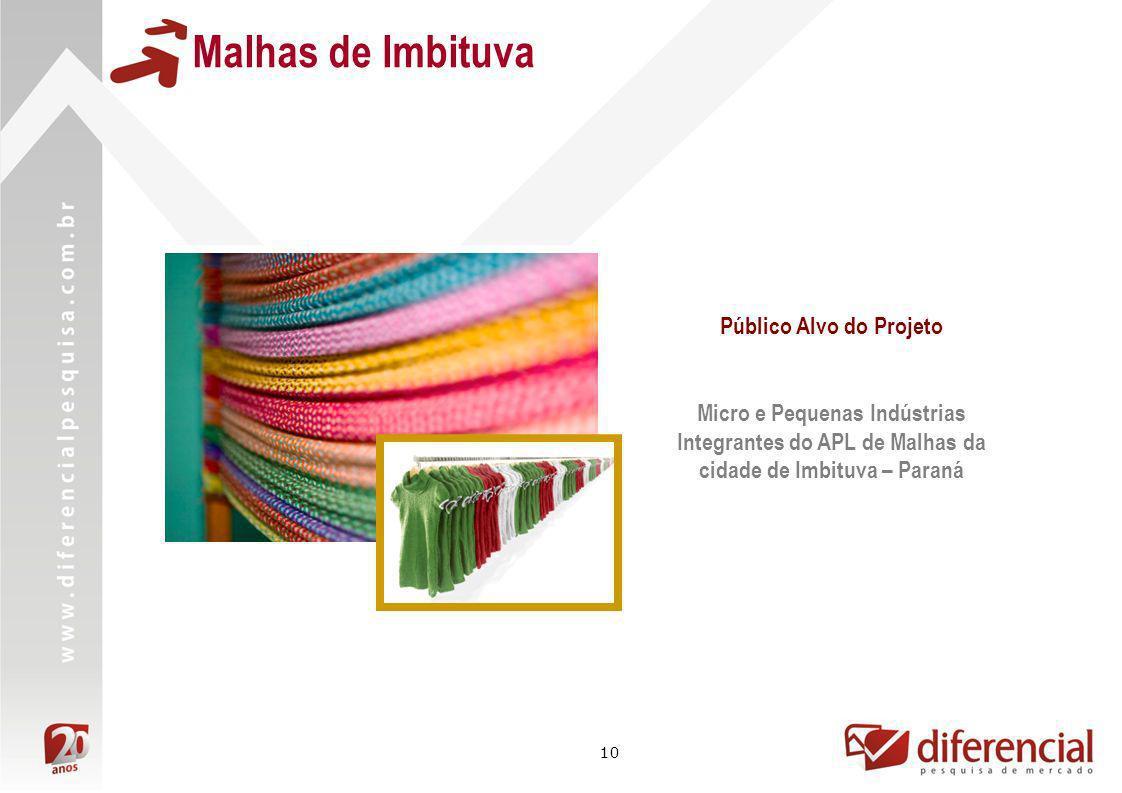 10 Malhas de Imbituva Público Alvo do Projeto Micro e Pequenas Indústrias Integrantes do APL de Malhas da cidade de Imbituva – Paraná