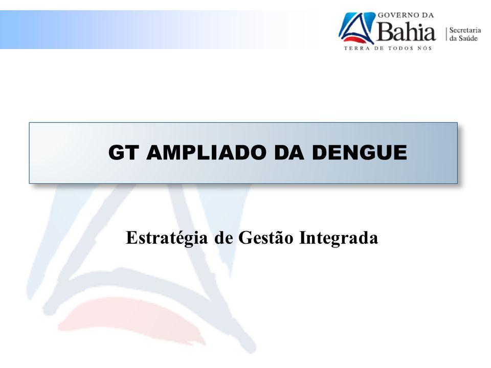 GT AMPLIADO DA DENGUE Estratégia de Gestão Integrada