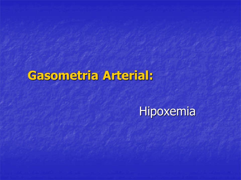Gasometria Arterial: Hipoxemia