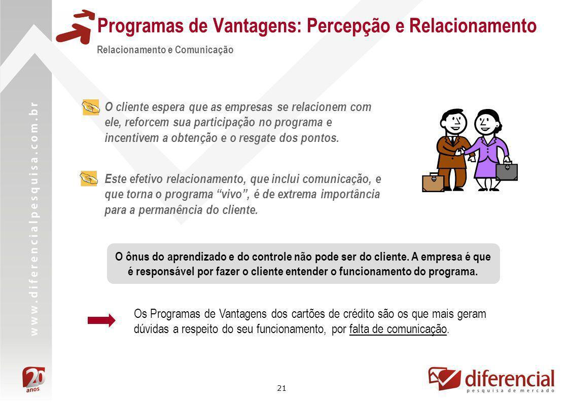 21 Relacionamento e Comunicação Este efetivo relacionamento, que inclui comunicação, e que torna o programa vivo, é de extrema importância para a perm
