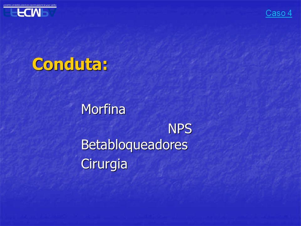 Conduta:Morfina NPS Betabloqueadores Cirurgia Caso 4
