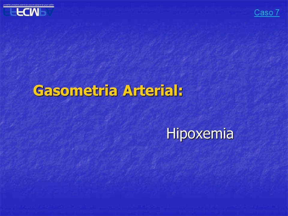 Gasometria Arterial: Hipoxemia Caso 7