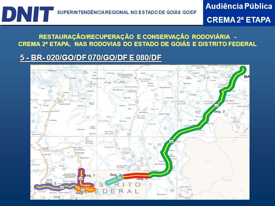 Audiência Pública CREMA 2ª ETAPA DNIT SUPERINTENDÊNCIA REGIONAL NO ESTADO DA BAHIA BR- 020/DF -Trecho: BR-010(A)/030(A)/450/DF-001(Brasília) - Entr.