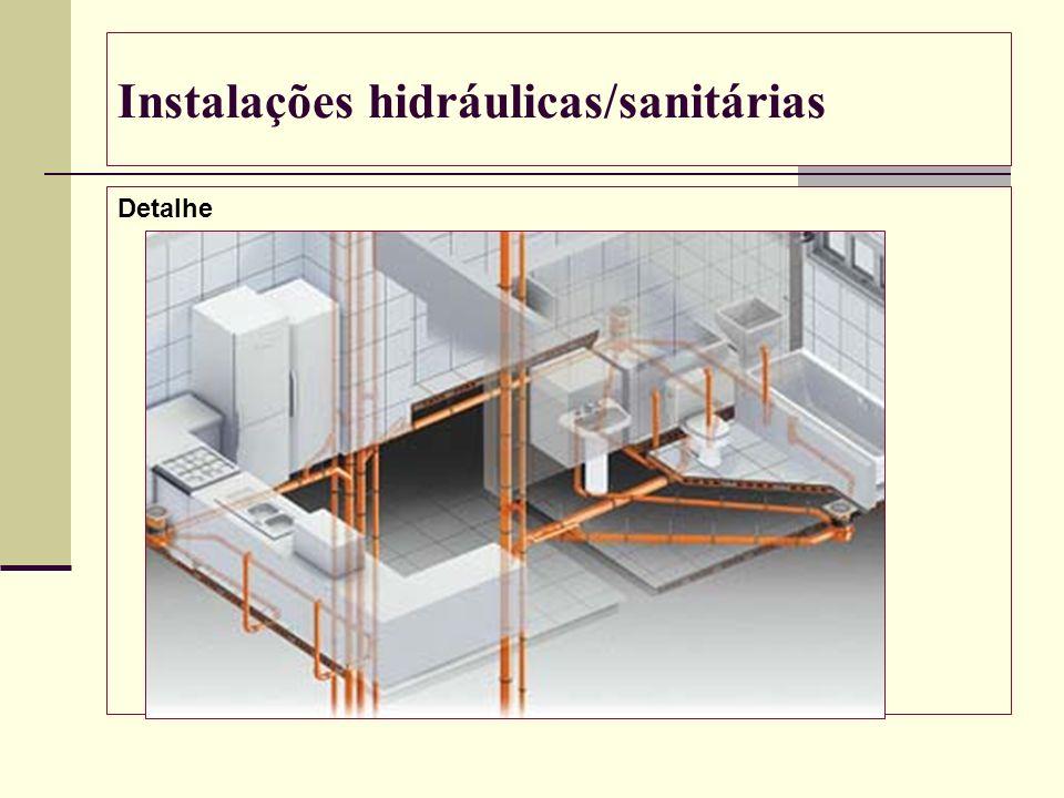 Instalações hidráulicas/sanitárias Detalhe