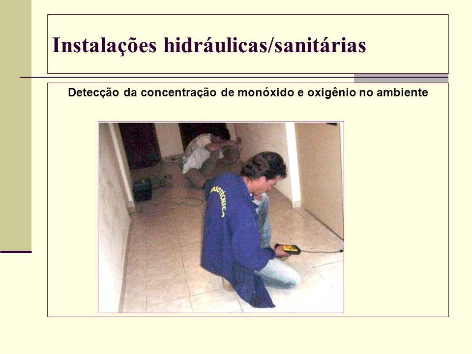 Instalações hidráulicas/sanitárias Detecção da concentração de monóxido e oxigênio no ambiente