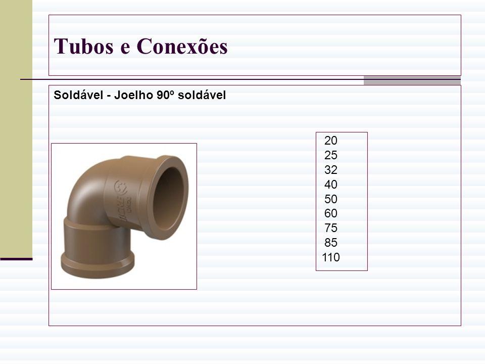 Tubos e Conexões Soldável - Joelho 90º soldável 20 25 32 40 50 60 75 85 110