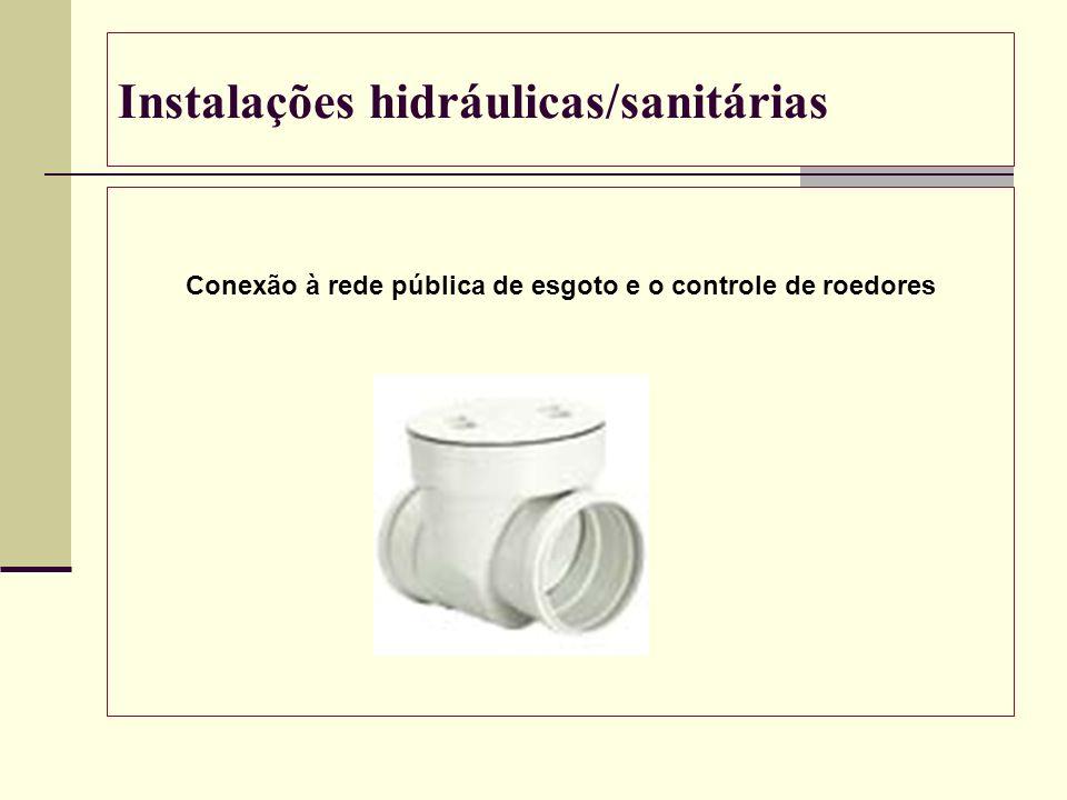 Instalações hidráulicas/sanitárias Conexão à rede pública de esgoto e o controle de roedores