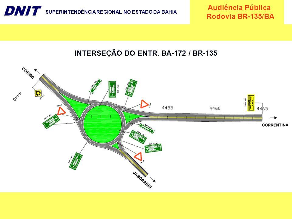 Audiência Pública Rodovia BR-135/BA DNIT SUPERINTENDÊNCIA REGIONAL NO ESTADO DA BAHIA INTERSEÇÃO DO ENTR. BA-172 / BR-135