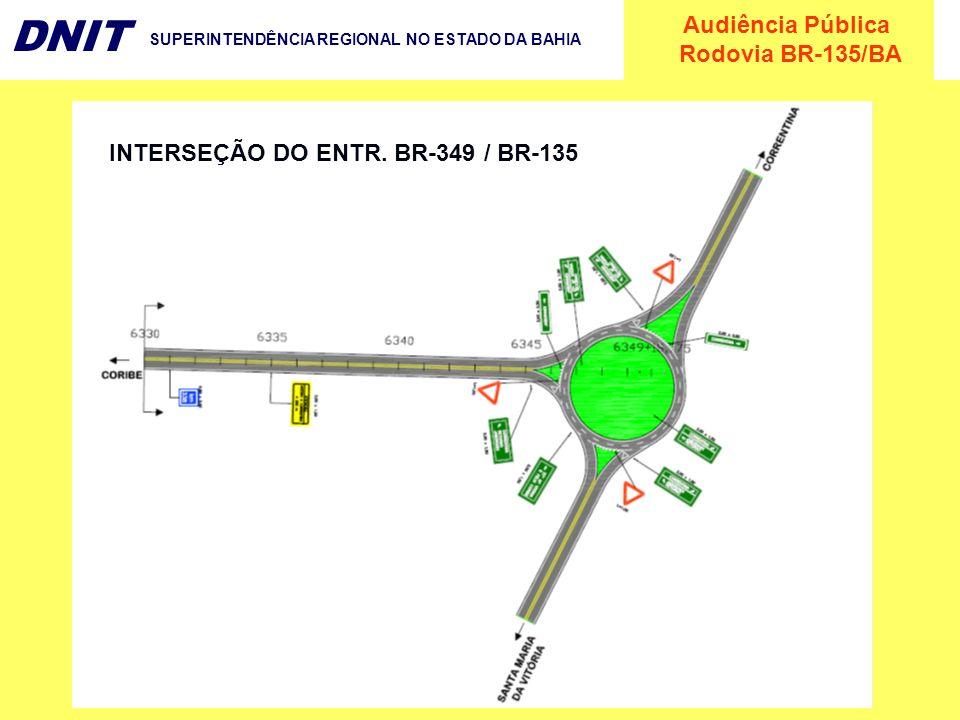 Audiência Pública Rodovia BR-135/BA DNIT SUPERINTENDÊNCIA REGIONAL NO ESTADO DA BAHIA INTERSEÇÃO DO ENTR. BR-349 / BR-135