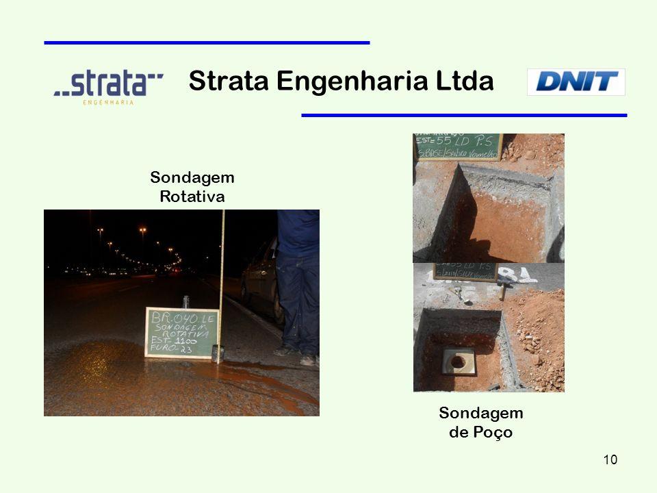 Strata Engenharia Ltda Sondagem Rotativa Sondagem de Poço 10