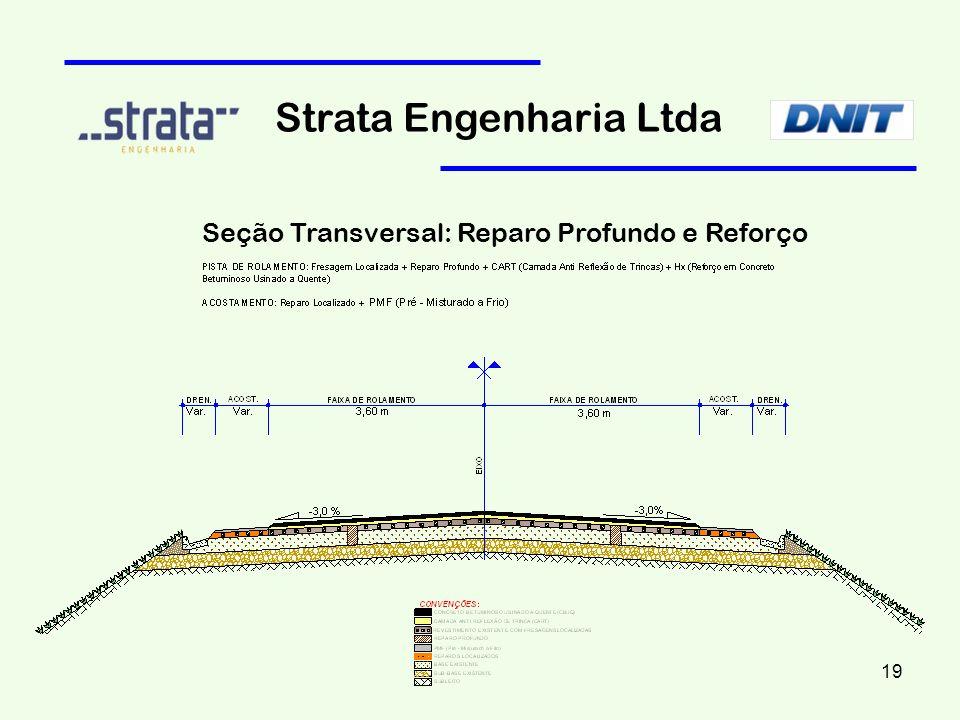 Strata Engenharia Ltda Seção Transversal: Reparo Profundo e Reforço 19