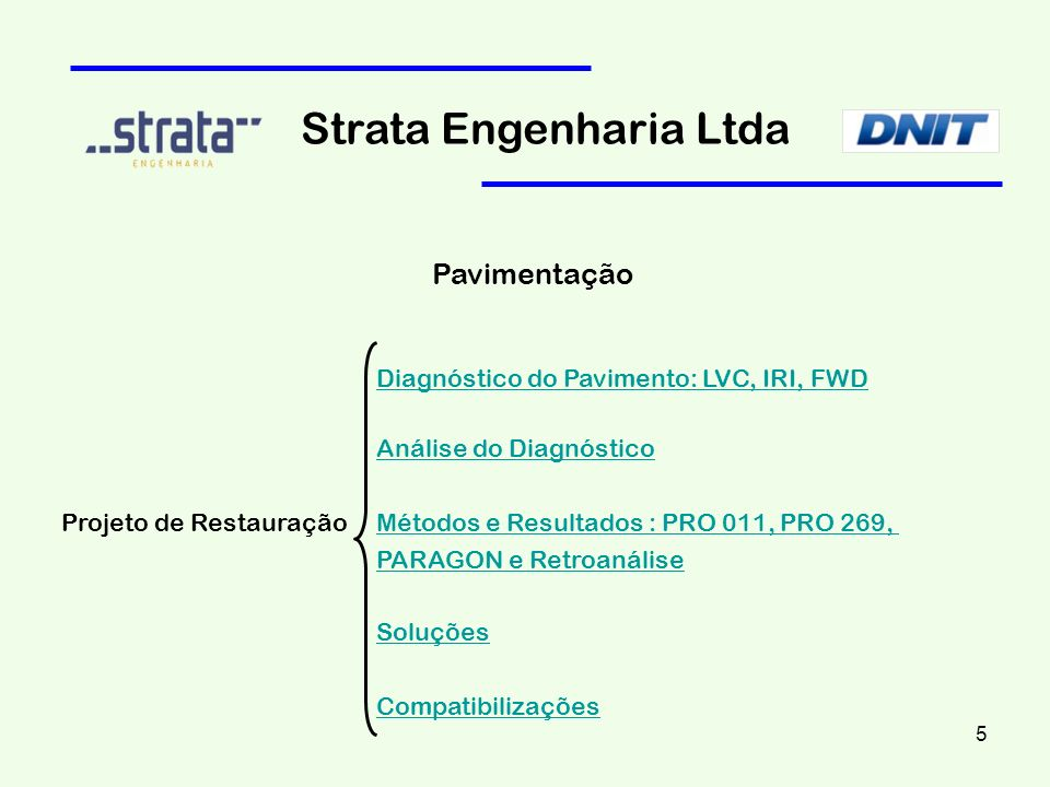 Strata Engenharia Ltda Resultado : Retroanálise 16