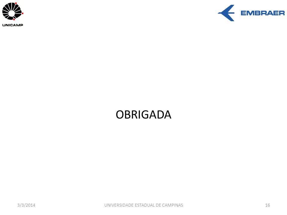 OBRIGADA 3/3/2014UNIVERSIDADE ESTADUAL DE CAMPINAS16
